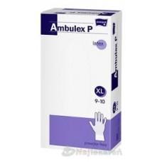 Ambulex latex gumikesztyű 100db púderes L-es