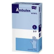 Ambulex nitril gumikesztyű 100db púdermentes L-es