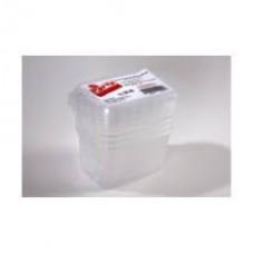Party műanyag ételdoboz+tető mikrózható 5db-os 750ml
