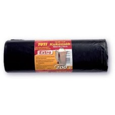 Szemeteszsák extra 200l 10db fekete